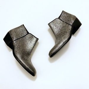 "Sam Edelman ""Petty"" Silver Metallic Ankle Boot 7.5"